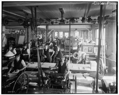 Press Room Circa 1900