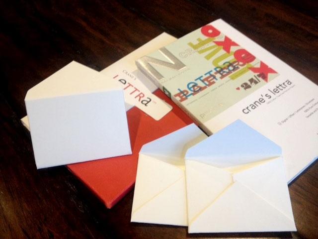 Crane Lettra escort card envelope