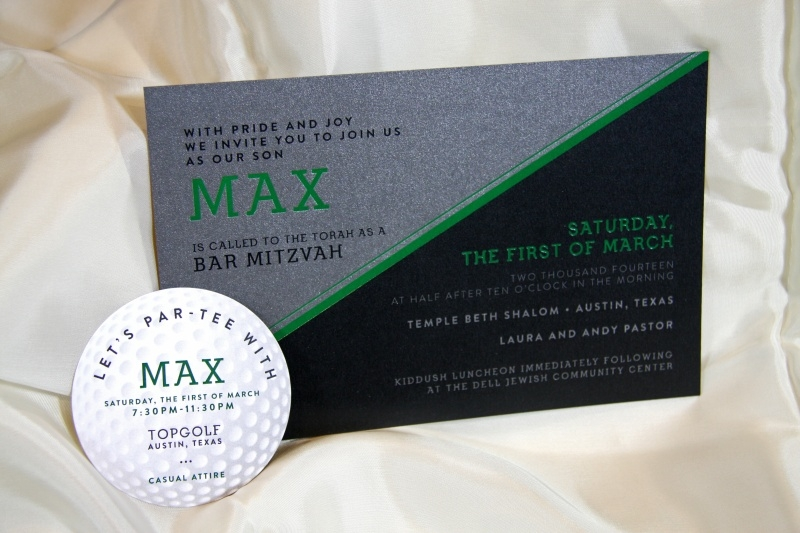 bar-mitzvah-digital-green-foil-with-diecut-golf-ball-invitation