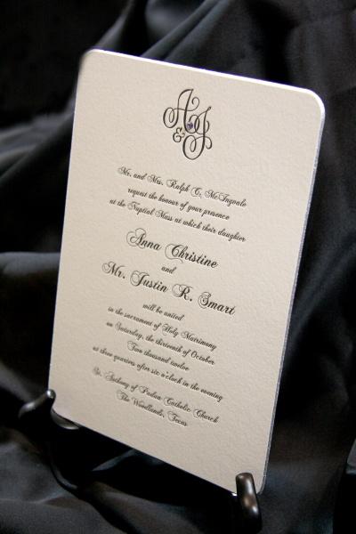 letterpress wedding invitations houston | engraved wedding, Wedding invitations