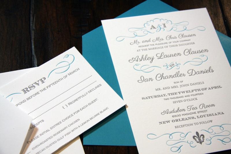 Ashley Jon Wedding Invitation Letterpress Replycard