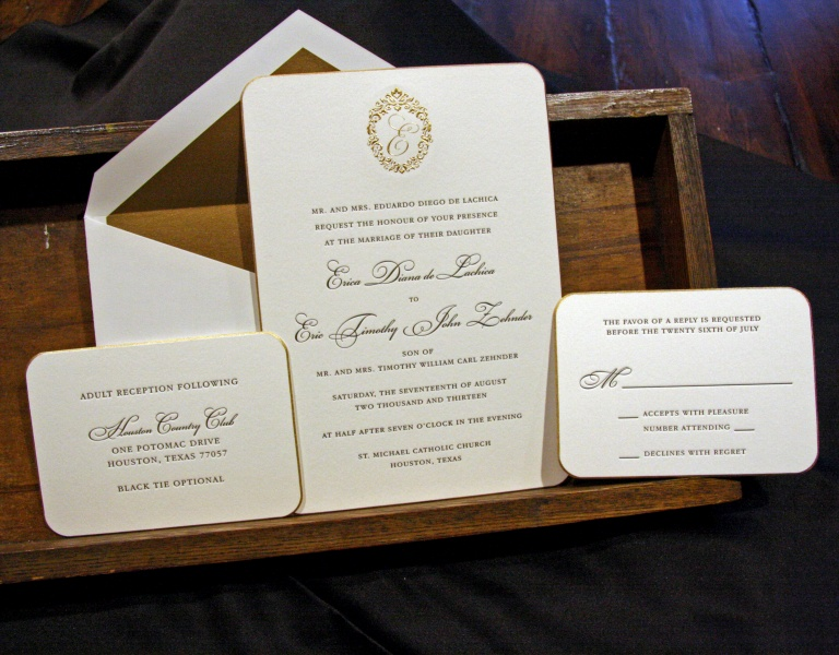Wedding Invites Letterpress: Houston Letterpress Wedding Invitations