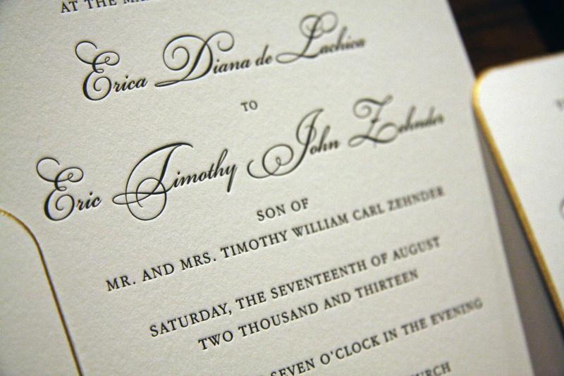 Letterpress Printing Wedding Invitations: Letterpress Wedding Invitations Houston