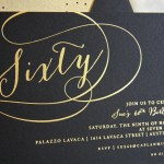 Sue's Foil Stamped 60th Birthday Invitation