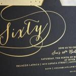 Sue's Foil Stamped 60th Birthday Invitation
